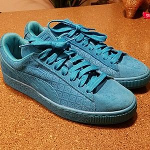 Puma Suede Classic Gf Mens Athletic Shoes Size 7